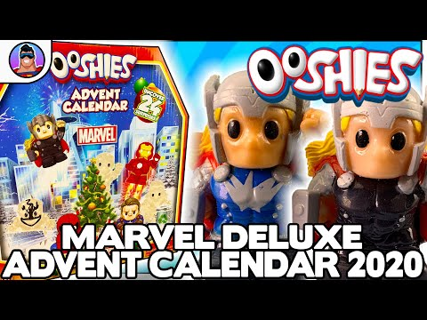 2020 Ooshies Marvel Deluxe Advent Calendar!  |  Uncover 24 Ooshie Surprises!!  Part 1