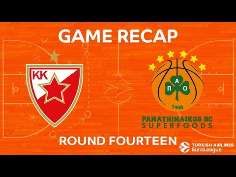 Crvena zvezda 63-69 Panathinaikos 21 Dec, 2017