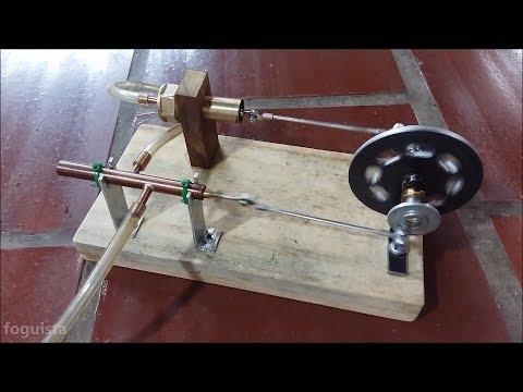 Homemade compressed air engine