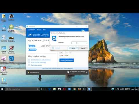 How to Connect any laptop or pc from your laptop by Teamviewer