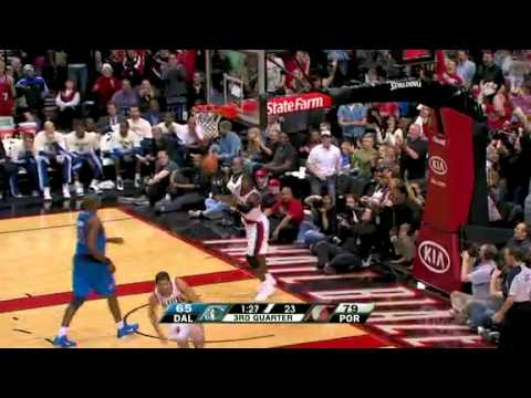 Rudy Fernandez great saves to Gerald Wallace