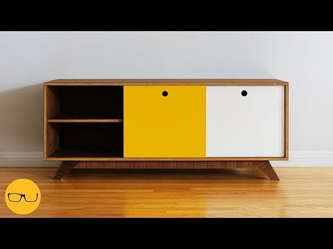 How To Build A Simple DIY TV Stand With Only One Saw!