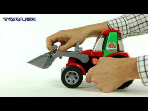 Машинка Bruder Трактор с погрузчиком (серия Roadmax)