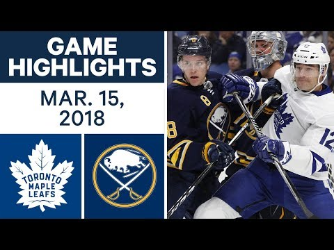 Video: NHL Game Highlights | Maple Leafs vs. Sabres - Mar. 15, 2018