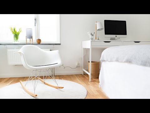 Minimalist bedroom tour | Before and after видео