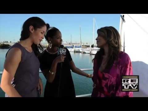 Lisa Vidal wearing Carmen Steffens on Good Day LA