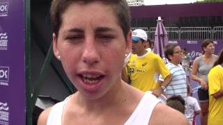 Carla Suarez Navarro participa do Kids Day do Brasil Tennis Cup 2014