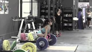 Chelsea clean & jerk Jes segment clean + jerk dip squat + jerk Audra clean & jerk Alyssa segment snatch + OHS Brian clean & jerk Danielle pause front squat - Weight lifting, Olympic, weightlifting, strength, conditioning, fitness, exercise, crossfit - Catalyst Athletics Videos