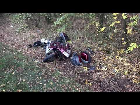 Wideo1: Wypadek pod Jezierzycami. Motocykliści w szpitalu
