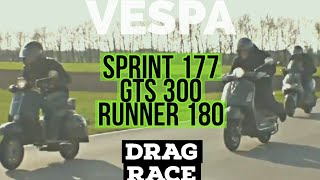 10. vespa gts 300 super 150 gilera runner 180  RACE (old version with music)