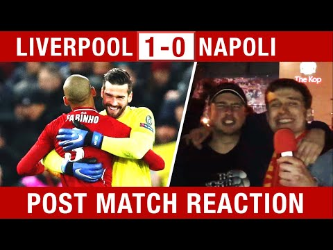SALAH & ALISSON WIN IT! Liverpool V Napoli 1-0 Fan Reaction #LIVNAP