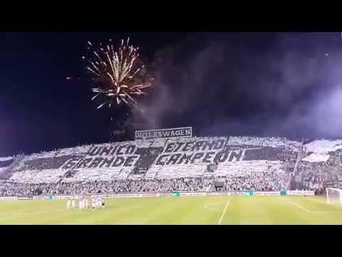 Recibimiento Hinchada de Olimpia (Mosaico) Vs. Independiente - Copa Sudamericana - 30/09/2015 - La Barra del Olimpia - Olimpia