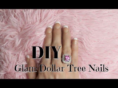 Acrylic nails - DIY $1 GLAM DOLLAR TREE FAKE NAILS~ NO ACRYLIC