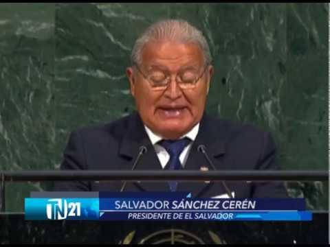 Presidente Salvador Sánchez Cerén brindó discurso ante la ONU