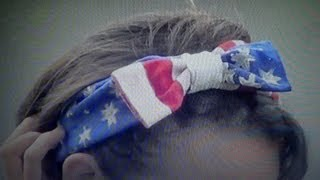 DIY American Flag Headband -HowToByJordan - YouTube