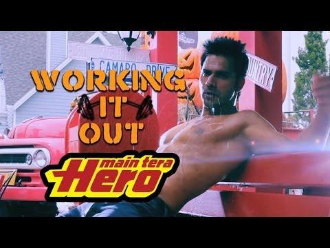 varuns tutorial - Varun Dhawan - Working it out! An exclusive video of Varun's exercise regime to prepare for Main Tera Hero.
