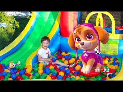 Скай Щенячий патруль Игрушки Развлечения для детей Paw Patrol play outdoor playground for kids