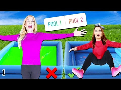 DONT Trust Fall into the Wrong Mystery Pool Challenge! Game Master is Missing (You Decide)
