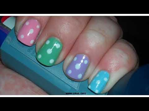 Decorados de uñas - Las últimas tendencias de Uñas decoradas con colores vivos
