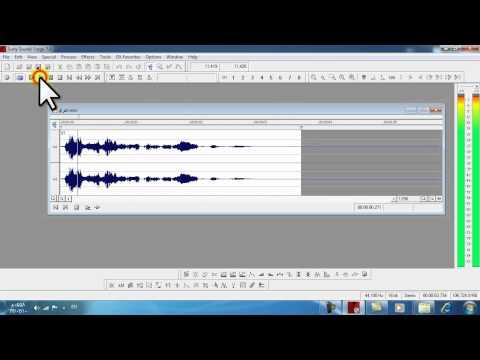 دمج أكثر من صوت بواسطة Sound Forge