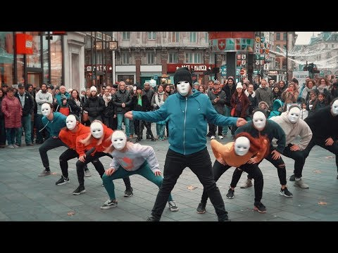 Epic Proposal Flash Mob - Guy joins in and is AMAZING!