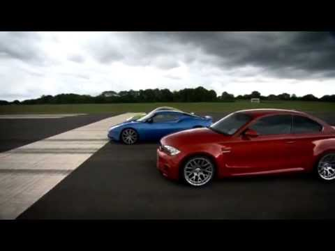 BMW 1M vs Porsche Cayman R vs Lotus Evora S (видео)