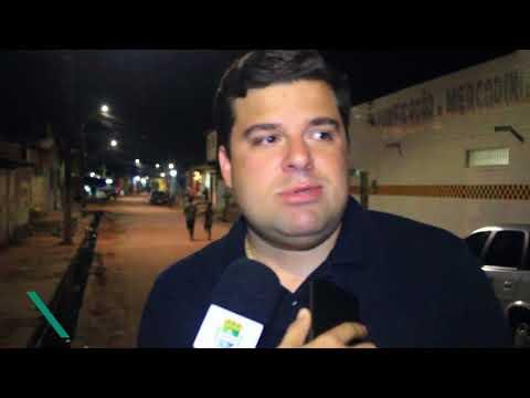 Vice-prefeito vistoria iluminação de LED na Levada