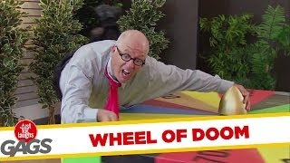 Tie Gets Caught in Wheel of Fortune