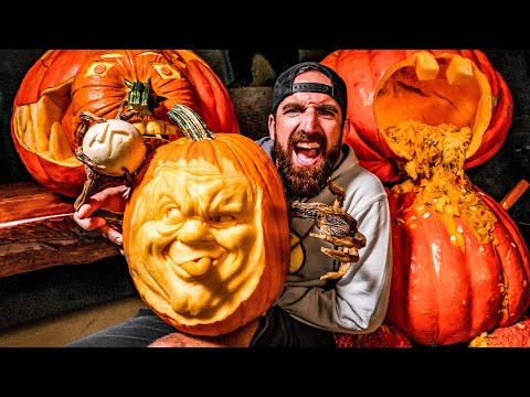 GIANT Pumpkin Carving Contest