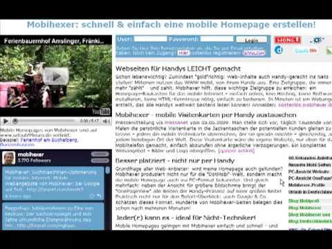 Mit Mobihexer in 1 Minute eine mobile Homepage erstellen