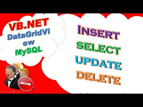 VB.net MySQL Database  : DataGridView – INSERT,SELECT,UPDATE,DELETE Full