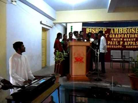 prayer song practice at Bishop Ambrose College