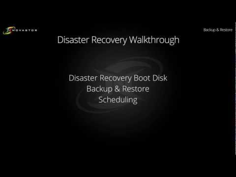 NovaBACKUP Disaster Recovery Walkthrough