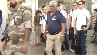 Mohali India  City pictures : India and England teams arrive in Mohali city ahead of third test match