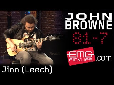 plays - To kick off their US tour, John Browne of Monuments, performs an instrumental version of Jinn (Leech) for EMGtv. Hear John's command of the 7 string guitar using his EMG 81-7 humbucker. Go...