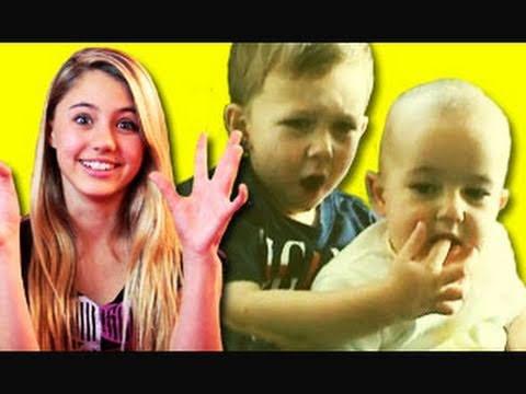 KIDS REACT TO VIRAL VIDEOS #5 (Charlie Bit My Finger, Golden Voice Homeless Man, Double Dream Hands)