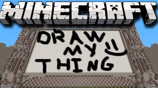 Minecraft Hilarious Draw My Thing! (Funny Minecraft Draw My Thing Mini-Game) w/Lachlan