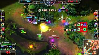 SSW Imp Amazing Twitch Penta Kill - TSM vs SSW - LoL S4 WoldsLeague of Legends LCS HighlightsLike us on Facebook : http://on.fb.me/1k7FA5oFollow us on Twitter : http://bit.ly/1pFYvk4Google+ : http://bit.ly/1rGSdDCIf you want to see more League of legends highlights, Please hit the subscribe button for more entertainment. :)Partner with Freedom! ➜ http://www.freedom.tm/via/LoLLCSHighlights07 - Be free.Get more views!➜ http://www.freedom.tm/grow - Grow with us.Become a network!➜ http://www.freedom.tm/network