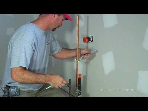 install - Shannon from http://www.house-improvements.com shows you how to install a water line to your fridge so you can use your fridge's ice maker or water dispenser...