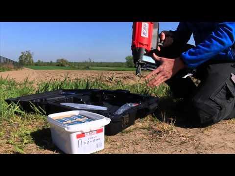 Agrafeuse autonome à gaz pour crampillons