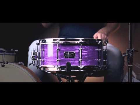 SJC 14x6 Purple Ripple Maple Snare Drum