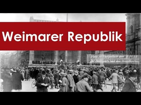 Geschichte der Weimarer Republik - Zusammenfassung