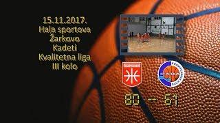 kk žarkovo kk sava 80 61 (kadeti, 15 11 2017 ) košarkaški klub sava