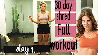30 DAY SHRED FULL WORKOUT 7 DAY CHALLENGE GILLIAN MICHAELS