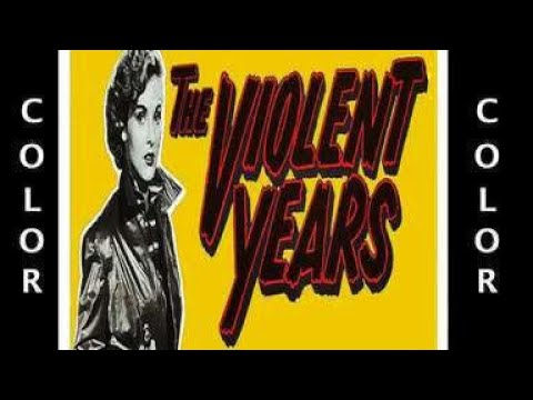 THE VIOLENT YEARS (1956) Jean Moorhead - Colorized