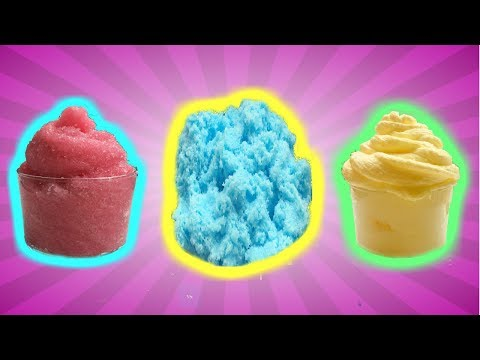 3 TIPOS DE SLIME CON NIEVE ARTIFICIAL  | CLOUD SLIME ☁ , FROSTING SLIME 🍦 ICEE SLIME 🍧