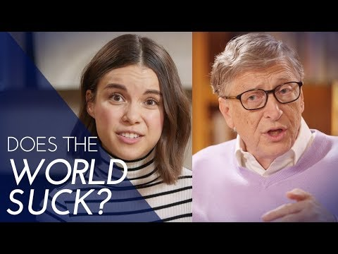 How Much Does the World Suck? A Quiz with Bill Gates | Ingrid Nilsen