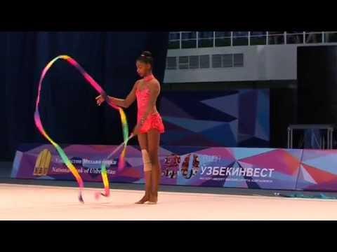 Nastasya Generalova - USA - Ribbon - Rhythmic Gymnastics World Cup 2014 Tashkent (видео)