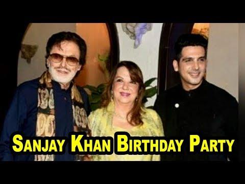 Sanjay Khan Celebrating his Birthday with Family