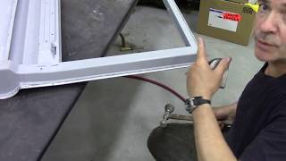 4. Re skinning a Defender one piece door with a galvanized steel skin